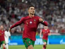 Cristiano Ronaldo evenaart Ali Daei met doelpunt 109 voor Portugal