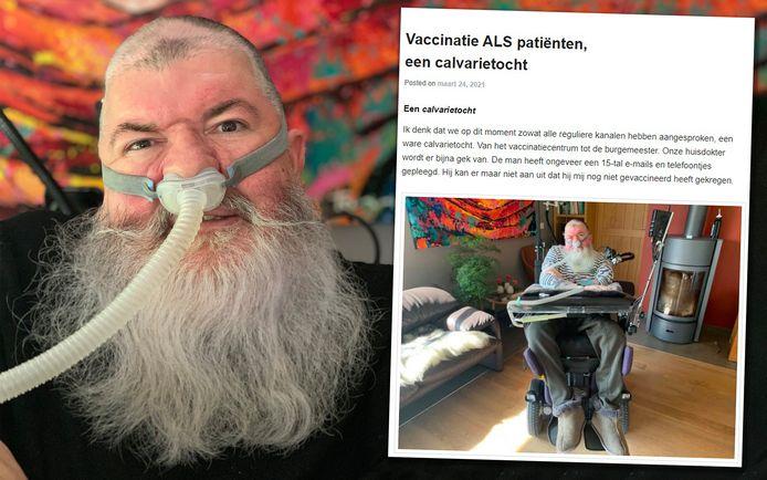 ALS-patiënt Alain Verspecht.
