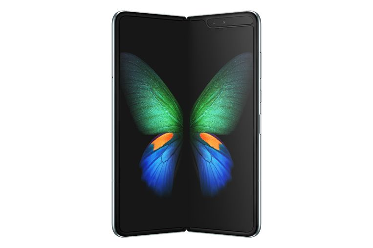 De Samsung Galaxy Fold in 'open' toestand.
