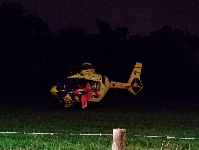 Met spoed is een medisch team ingevlogen na het incident op station Ede-Wageningen.