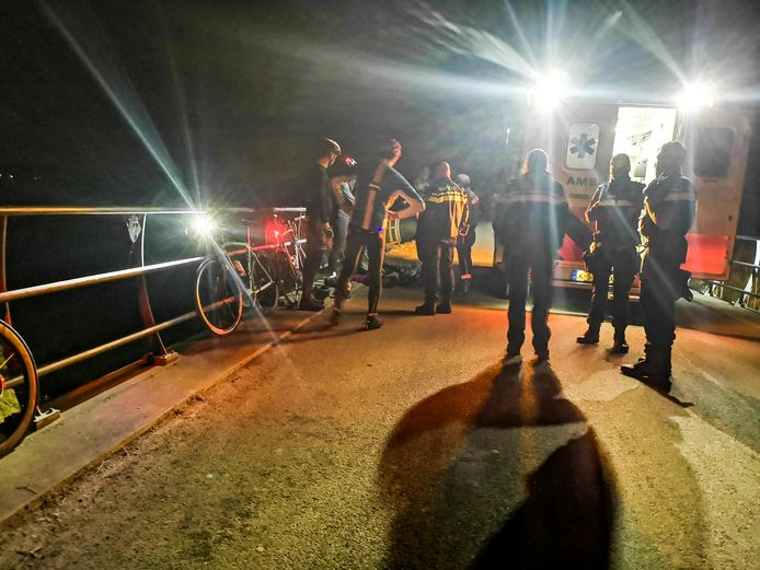 Op de Oude Veerweg in Dordrecht botste een groep wielrenners op een ree.