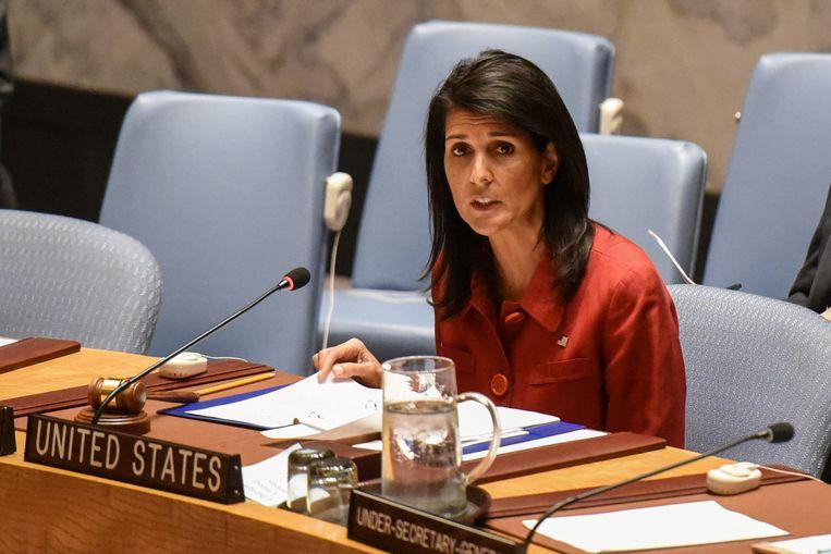 VS-ambassadeur in de Verenigde Naties Nikki Haley Beeld REUTERS