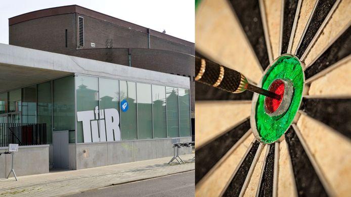 Het BK Darts wordt georganiseerd in fuifzaal Futur.