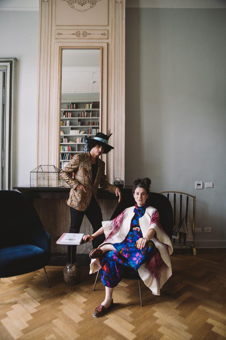 Sinds vorige maand wonen José James en zijn echtgenote, singer-songwriter Taali, in Amsterdam. Beeld Karston Tannis