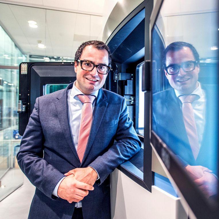 Xilloc-oprichter Maikel Beerens: 'We willen marktleider worden op het gebied van op maat gemaakte implantaten.' Beeld Raymond Rutting/de Volkskrant