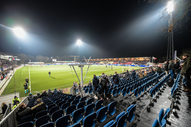 Bekerkraker December 2019. Het stadion van Telstar loop langzaam vol voor het bekerduel tegenAjax Beeld ANP
