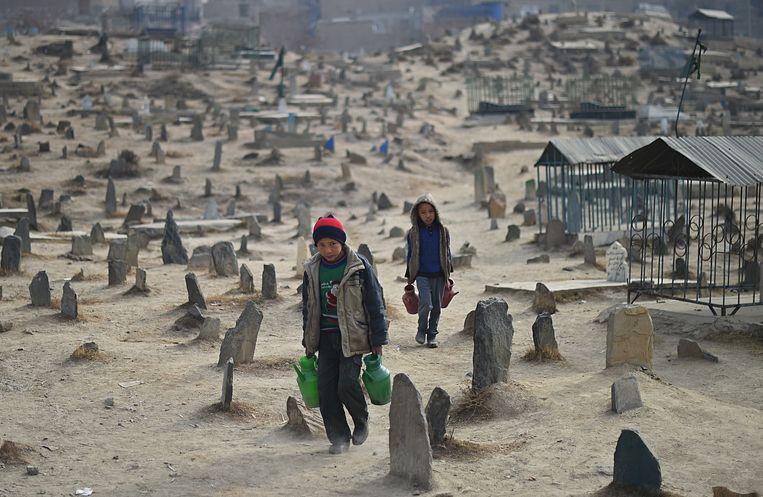 Afghaanse kinderen (2015).  Beeld AFP