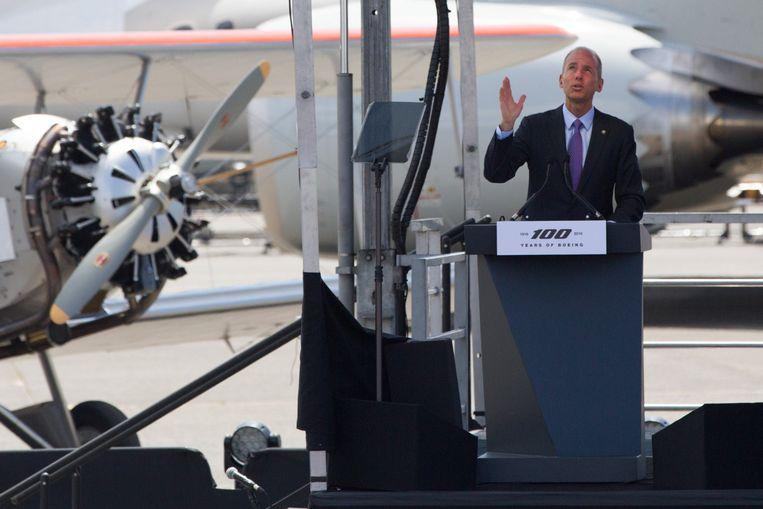 Boeing-CEO Dennis Muilenburg vloog zelf mee (Archiefbeeld).