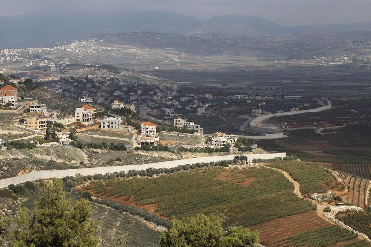 De grens tussen Israël en Libanon.