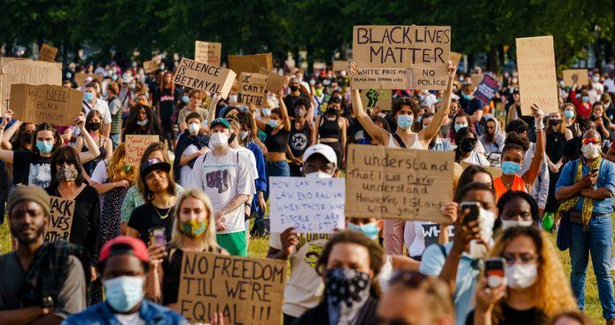 De demonstratie van Black Lives Matter op het Malieveld in Den Haag.