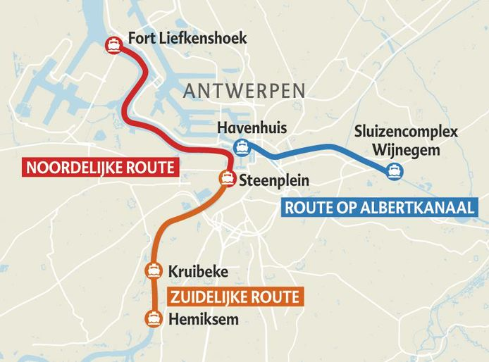 De zuidelijke lijn vaart al sinds augustus, dit jaar komen er dus twee nieuwe routes bij.