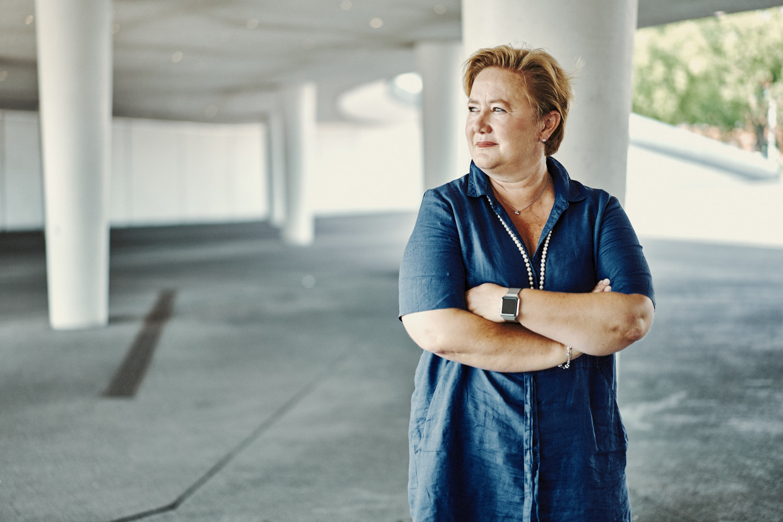 Anne Martens: 'Voor de NMBS moet het toch perfect mogelijk zijn om haar aantal passagiers te tellen?' Beeld Thomas Sweertvaegher
