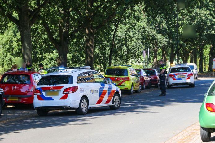 De hulpdiensten kwamen snel ter plaatse aan de 1e Wormenseweg.