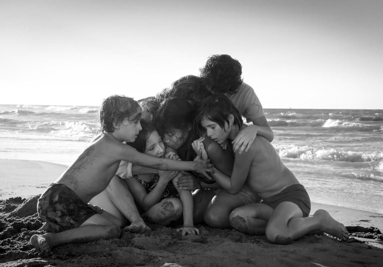 Een scène uit Roma van Alfonso Cuaron.  Beeld AP