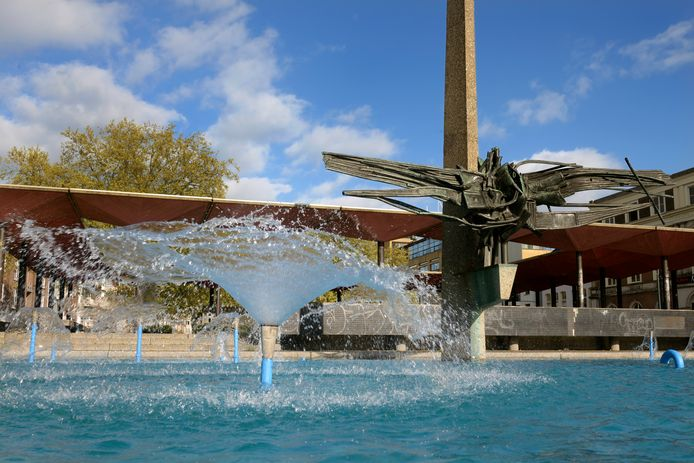 De AKU-fontein in de Arnhemse binnenstad op archiefbeeld.