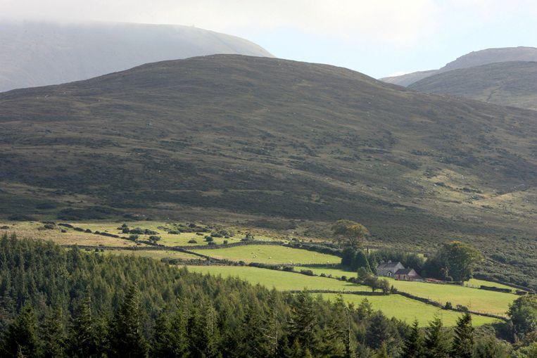 De Mourne Mountains in County Down, Noord-Ierland, het favoriete wandelterrein van de jonge auteur. Beeld AP