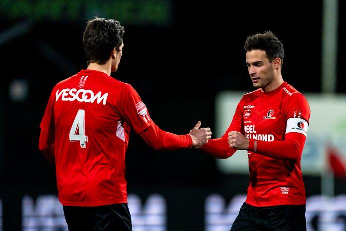 Guus Joppen is de laatste weken een rustpunt in de Helmondse defensie. De klik met Alec Van Hoorenbeeck is goed.