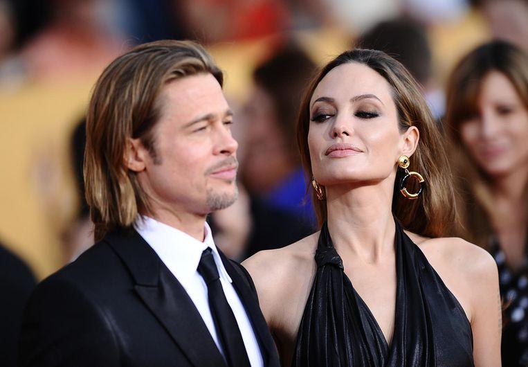 Pitt en Jolie vijf jaar geleden. Ze zijn inmiddels twee jaar gescheiden.