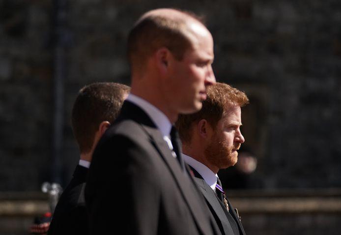 William et Harry pendant les funérailles du prince Philip.