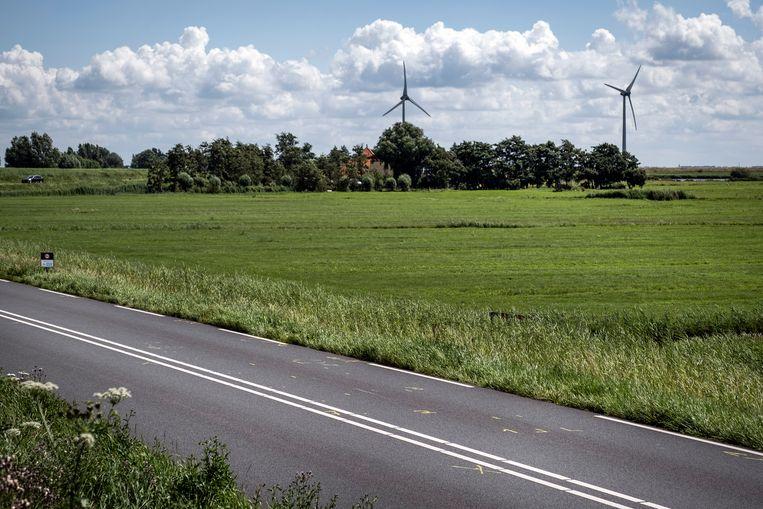 De plek waar de 14-jarige Tamar is gevonden langs de dijk tussen Monnickendam en Marken. Beeld Hollandse Hoogte /  ANP