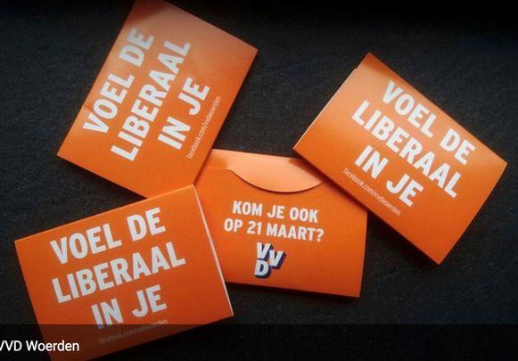 'Voel de liberaal in je', waarmee de VVD in Woerden naar de kiezer trekt.