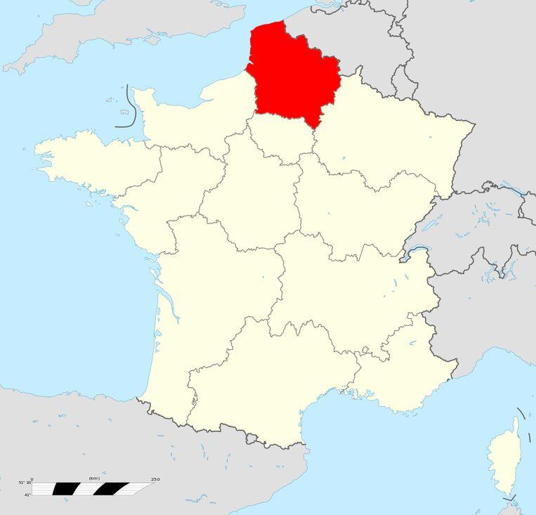 De regio Nord-Pas-de-Calais-Picardie. Beeld Creative Commons 4.0