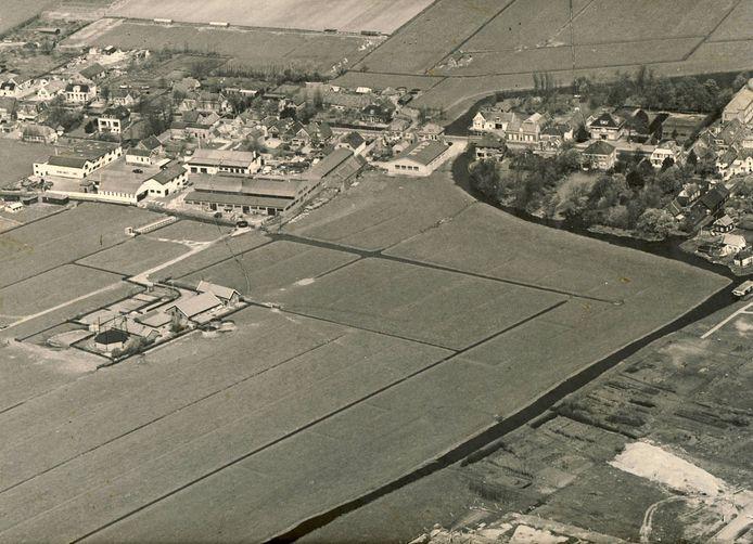Zoetermeer in de jaren zestig van de vorige eeuw, met een nog onbebouwde Driemanspolder.