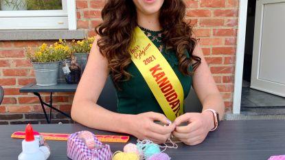 Miss België-kandidate Inez Dusaert (20) maakt armbandjes voor het goede doel