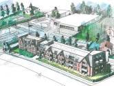 Witte rook stijgt op voor bouw appartementen op verwilderd terrein in Deurne