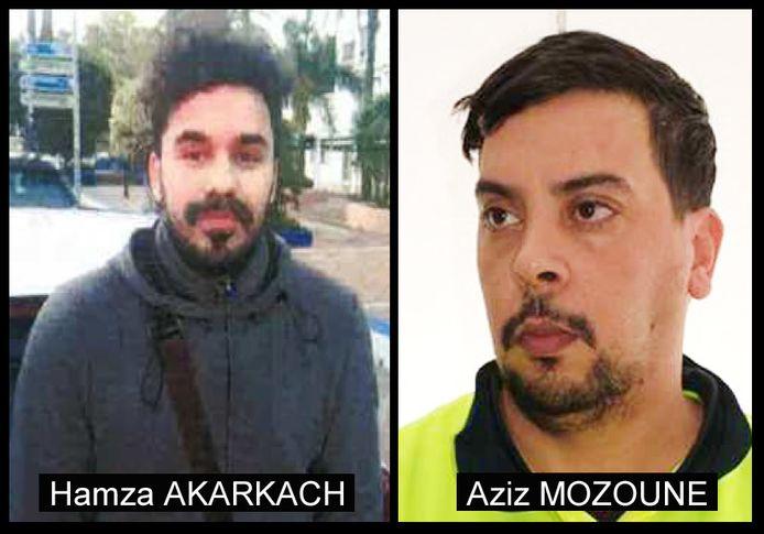 Hamza AKARKACH en Aziz MOZOUNE.