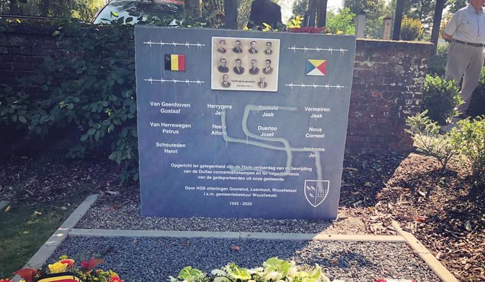 De gedenksteen in Wuustwezel werd beklad met een hakenkruis