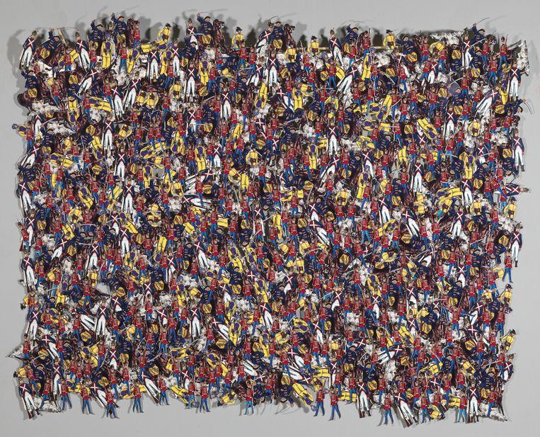 Isabel Ferrand, Zeshonderdzesenzestig, 2006, collage van papier en hout, 70 x 90 cm. Beeld Museum Gouda