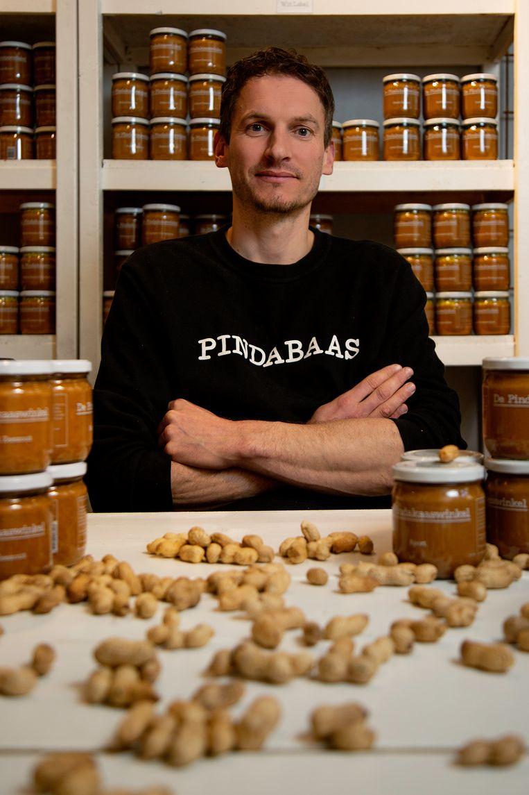 Michiel Vos van De Pindakaaswinkel. Beeld Susanne Stange