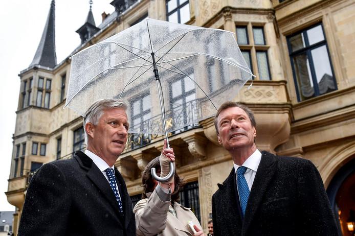 le Roi et le Grand Duc Henri lors de la visite d'État
