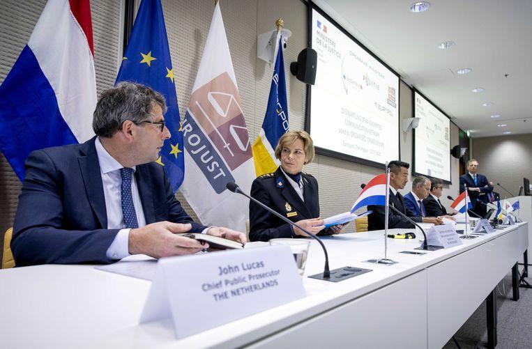 Nederlandse en Franse autoriteiten werkten samen om het netwerk te ontmantelen.  Beeld ANP