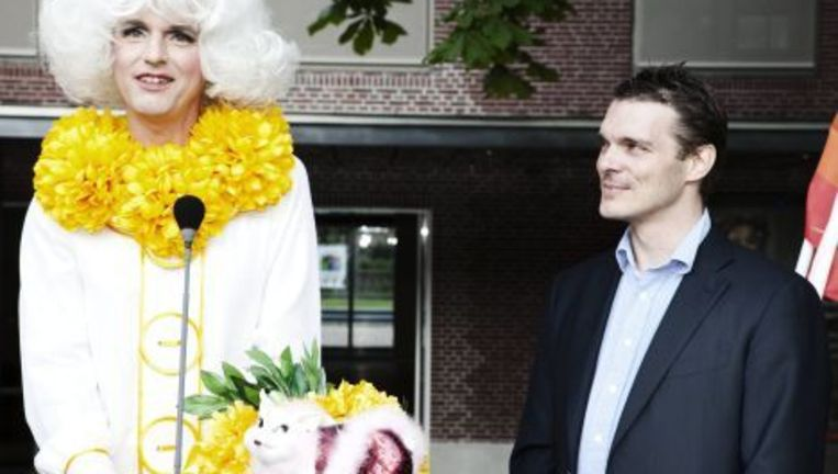 Frank van Dalen, voorzitter van stichting ProGay en Amsterdams gemeenteraadslid voor de VVD. Archieffoto Jan van Breda Beeld