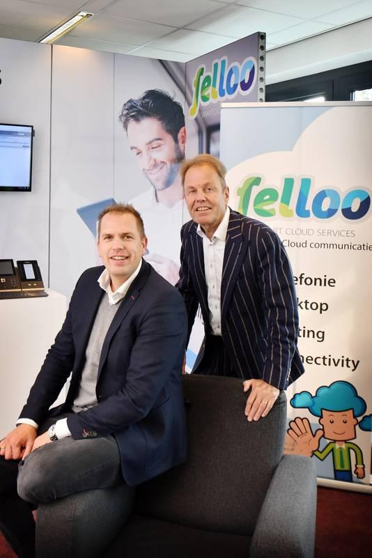 Marthijn Groenwoud en Henrico Grobben (r.),  eigenaren van Felloo.