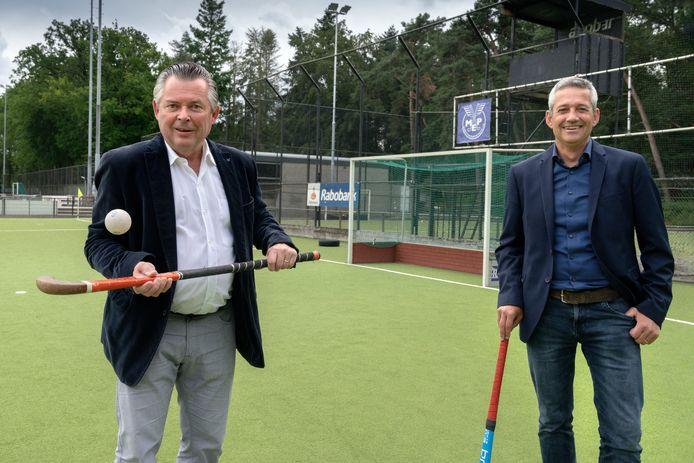 Voorzitter Peter Langenhuijsen (links) neemt eind dit jaar afscheid. Opvolger Han Swinkels (rechts) staat al in de startblokken.