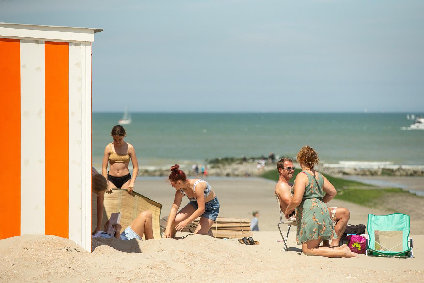Genieten op het strand van Nieuwpoort.