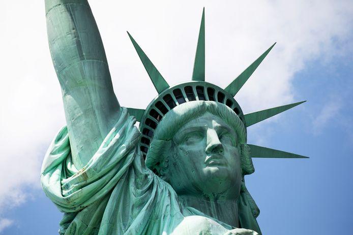 Het Vrijheidsbeeld. Oorspronkelijk bedoeld om de afschaffing van de slavernij te vieren. Maar daar kwam de financiering niet voor rond.