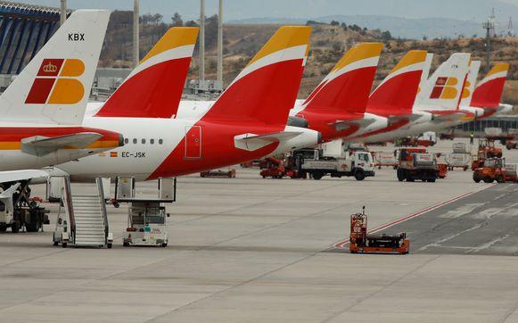 Luchthaven Madrid Barajas wordt getroffen door de staking.