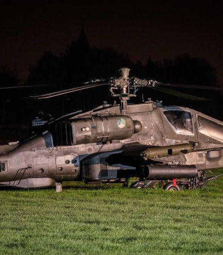 Apachevlieger zag tijdens oefening hoogspanningskabel over het hoofd