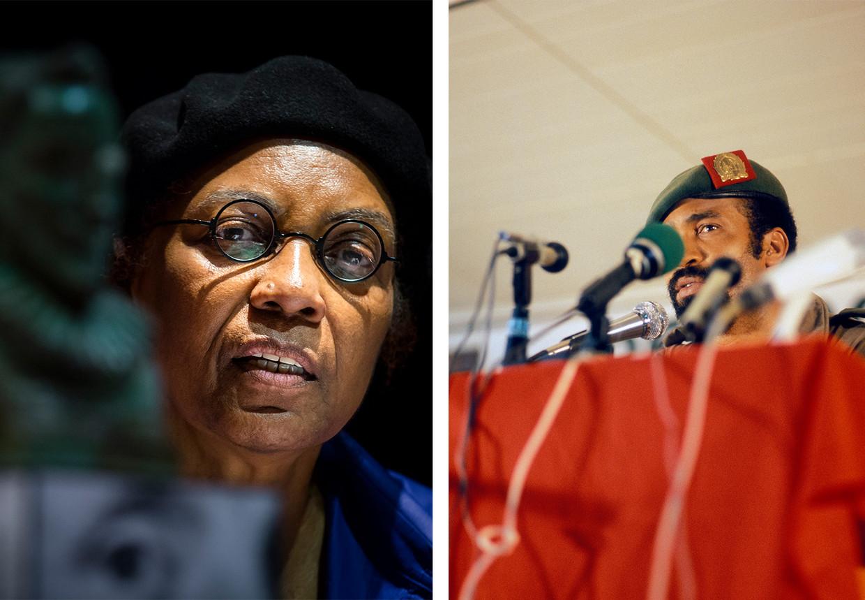 Astrid Roemer: 'Ik ken Bouterse niet persoonlijk. Hij is voor mij een historische figuur'. Rechts: Desi Bouterse in 1980. Beeld ANP, Hollandse Hoogte /  Erven Steye Raviez