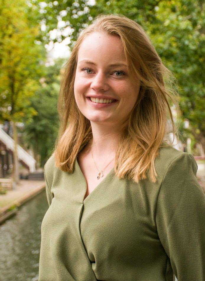 Nyna Visser, voorzitter Jonge Democraten Utrecht.
