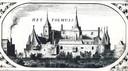 Een ansichtkaart van kasteel Het Tolhuis en Lobith, welke tussen 1300 en 1700 een belangrijke functie had binnen de scheepsvaart. Schippers moesten hier namelijk tol betalen.