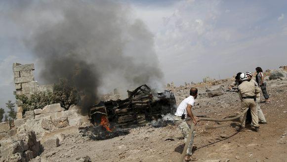 De Russen bombardeerden onder andere een basis van de islamitische Ahrar al-Sham in Idlib.