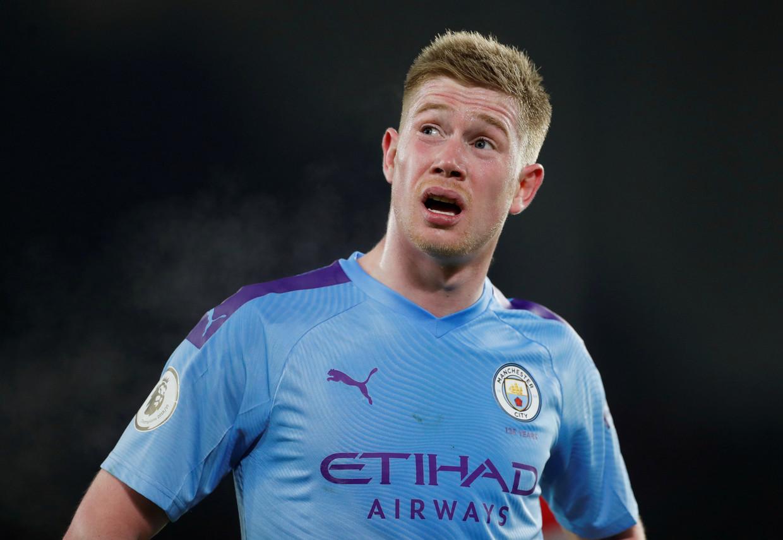 Kevin De Bruyne is met 12 miljoen euro per jaar, zonder teken- en loyauteitspremies, de topverdiener bij Man City. Beeld Action Images via Reuters