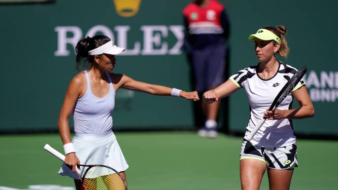 Elise Mertens en Hsieh Su-Wei hakken tegenstand in de pan en staan in prestigieuze dubbelfinale Indian Wells
