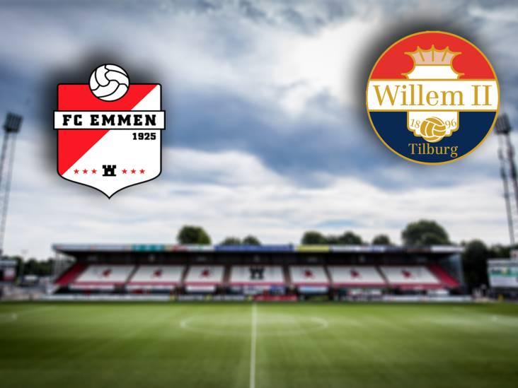 LIVE | Willem II met basisdebutant Van der Avert tegen Emmen