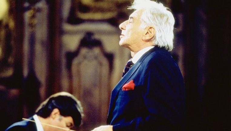 Dirigent Leonard Bernstein Beeld anp